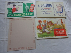 4 Buvards -librairie Joseph Gibert-liebig-lait--le Vrai Volacrine Sauve Les Volailles Poussins Enfant - Blotters