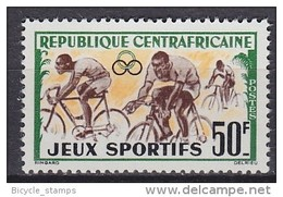 CENTRAFRICAINE, RÉPUBLIQUE Central African Republic  ** MNH Vélo Cycliste Cyclisme Bicycle Cycling Fahrrad Radfa [cr87]