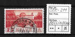 1938 BILDER DER VÖLKERBUNDS- UND ARBEITSAMTSGEBÄUDE ►SBK-211→BELLINZONA 9.XI.38◄ - Gebraucht