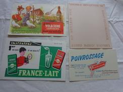 4 Buvards -librairie Joseph Gibert-poivrossage-lait--le Vrai Volacrine Sauve Les Volailles Poussins Enfant - Blotters