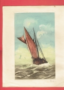 EAU FORTE MARINE SIGNEE HERY EN BON ETAT ANNEES 1950 1960 - Estampes & Gravures