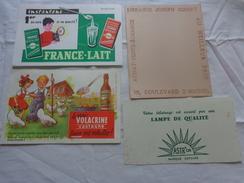 4 Buvards -librairie Joseph Gibert-lampe Astr'or-lait--le Vrai Volacrine Sauve Les Volailles Poussins Enfant - Blotters
