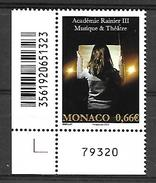 Monaco 2015 - Yv N° 2984 ** - ACADEMIE RAINIER III - Neufs