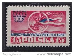 1948 POLOGNE Poland  ** MNH Vélo Cycliste Cyclisme Bicycle Cycling Fahrrad Radfahrer Bicicleta Ciclista Ciclismo [di12]