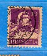 SUISSE ° - 1932-33 /Buste De Tell - Zum.184z / Mi 204z-. GRILLée. 2 Scan.  Cat. Zum. 2016  CHF. 3,00.    Vedi Descri