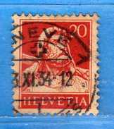 SUISSE ° - 1932-33 /Buste De Tell - Zum.174z / Mi 206z-. GRILLée. 2 Scan.  Cat. Zum. 2016  CHF. 3,00.    Vedi Descri
