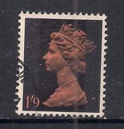 GB 1967 - 70 QE2 1/- 9d Orange & Black Machin SG 744 ( L210 )