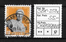 1945  50 JAHRE INTERN.OLYMP.KOMITEE → SBK-259x, CHARDONNE 7.VIII.44 - Suisse