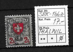 1924 -1940 WAPPENMUSTER → Stempel THALWIL  ►SBK-166z, 29.XI.....◄ - Gebraucht