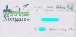 PAP Ciappa Lettre Verte Repiqué: Niergnies (59): Golf Aviation :AyantVoyagé