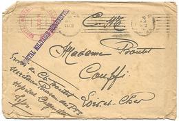 LF 890  Enveloppe En Franchise Militaire De L'Hopital Militaire Desgenettes à Lyon De 1918