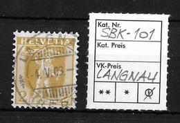 1907-1909 TELLKNABE (neue Zeichnungen) → SBK-101, LANGNAU 4.V.08 - Gebraucht