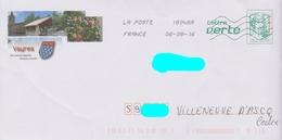 PAP Ciappa Lettre Verte Repiqué: Vayres (87): Vayres-les-Roses :AyantVoyagé