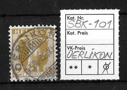 1907-1909 TELLKNABE (neue Zeichnungen) → SBK-101, OERLIKON 15.III.09 - Gebraucht