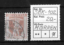1907-1909 TELLKNABE (neue Zeichnungen) → SBK-102, MÜRREN ...VIII.08 - Gebraucht