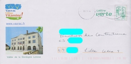 PAP Ciappa Lettre Verte Repiqué: Vayrac (46): Hôtel De Ville :AyantVoyagé