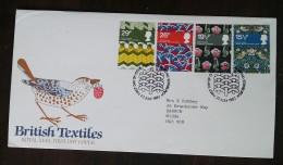 GRANDE-BRETAGNE - FDC 1982 - YT N°1052 à 1055 - Textiles Britanniques