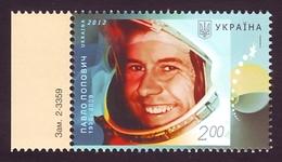 UKRAINE 2012. 50th ANNIVERSARY OF SPACE FLIGHT OF PAVEL POPOVICH. Mi-Nr. 1268. Mint (**)