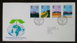 GRANDE-BRETAGNE - FDC 1983 - YT N°1071 à 1074 - Journée Du Commonwealth