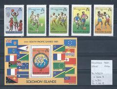 Solomon 1981 - Yv. 427/31 + Blok 9 Postfris/neuf/MNH