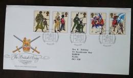 GRANDE-BRETAGNE - FDC 1983 - YT N°1094 à 1098 - Armée Britannique