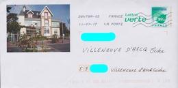PAP LV Logo VertVert Repiqué: Donville-les-Bains (50): Mairie :AyantVoyagé