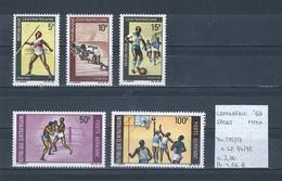 Centrafricaine 1969 - Yv. 115/17 + LP.74/75 Postfris/neuf/MNH