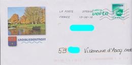 PAP LV Logo VertVert Repiqué: GROSBLIEDERSTROFF (57): Blason - Canal :AyantVoyagé