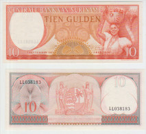 Surinam 10 Gulden 1963 Pick 121 UNC - Surinam