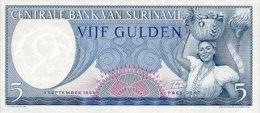 Surinam 5 Gulden 1963 Pick 120 UNC - Surinam