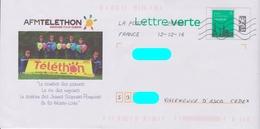 PAP LV Logo Datamatrix Repiqué: Haute-Loire (43): AFM Téléthon Jeunes Sapeurs Pompiers :AyantVoyagé