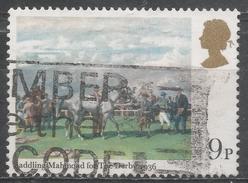 Great Britain 1979, Scott #863 Saddling Of Mahmoud 1936 Derby, By Alfred Munnings (U)