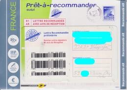 Prêt-à-Recommander Suivi R1 AR 20g Avec Logo Bleu : Cachet De LA POSTE