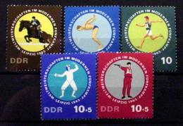 GERMAN DEMOCRATIC REPUBLIC # 789-791+B135-B136.  International Pentathlon Championships.  MNH (**) - [6] Democratic Republic