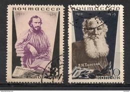 RUSSIE (Union Des Républiques Socialistes Soviétiques) - (U.R.S.S.) - 1935 - N° 577 Et 578 - (L. Tolstoï)