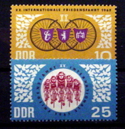 GERMAN DEMOCRATIC REPUBLIC #921-922.  20th International Bicycle Peace Race.  MNH (**) - [6] Democratic Republic