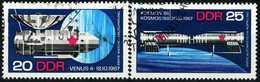 DDR - Michel 1341 / 1342 - OO Gestempelt (A) - Sowjetische Raumfahrt
