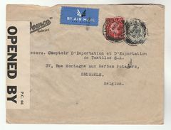 1940 Manchester GB CENSOR COVER Stamps PERFIN ´MW´  From WHITWORTH MITCHELL To Belgium  Censored Cds