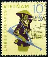 DDR - Michel 1371 - OO Gestempelt (B) - Unbesiegbares Vietnam 68