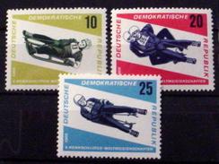 GERMAN DEMOCRATIC REPUBLIC #808-810.  10th Tobogganing Championships.  MNH (**) - [6] Democratic Republic