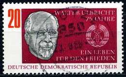 DDR - Michel 1383 - OO Gestempelt (C) - 75. Geburtstag Walter Ulbricht