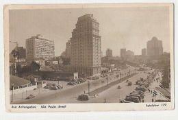 BRAZIL - SAO PAULO - RUA ANHANGABAU - RPPC 1950s ( 1139 ) - Cartes Postales