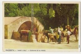 ISRAEL - NAZARETH - MARY'S WELL - PHOTO KALTER - STAMPS - 1950s  ( 1144 ) - Cartes Postales