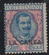 LA CANEA 1906 Italian Offices In Crete 5 Lire MH High CV W0556