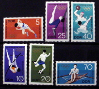 GERMAN DEMOCRATIC REPUBLIC #1043-1046 +B149-B150. 19th Olympics Games, Mexico City.  MNH (**)