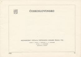 Czechoslovakia / First Day Sheet (1955/15) Praha (f): International Stamp Exhibition PRAGA 1955 (Prague)