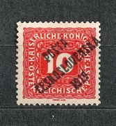 Czechoslovakia Tschechoslowakei 1919 MH * Mi 82 Sc B48 Austrian Stamps Of 1916-18 Overprinted. Mit Aufdruck. C.4