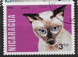 Nicaragua 1984 Poste Aérienne N°1053 Oblitéré Avec Chats