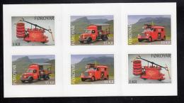 Faroe Islands MNH 2016 Booklet 2 Sets Of 3 Fire Trucks