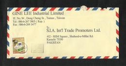 China Taiwan Air Mail Postal Used Cover Taiwan To Pakistan - Taiwán (Formosa)